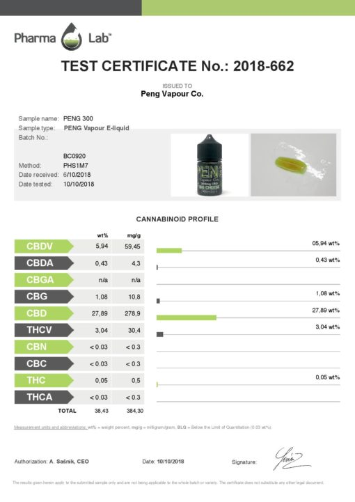 Big Cheese by Peng CBD Vapour Co.