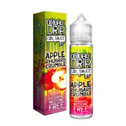 apple andrhubarb crumble by double drip coil sauce