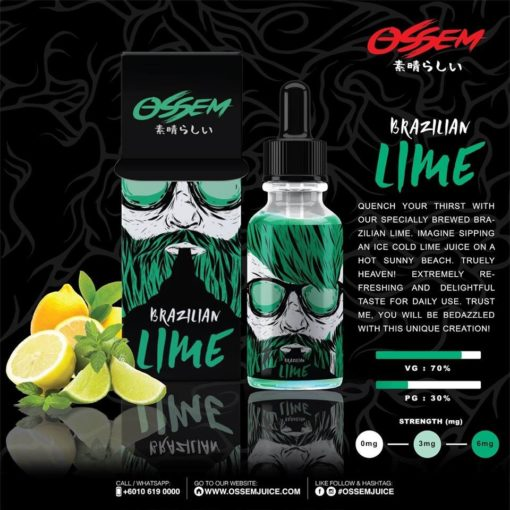 Brazilian Lime 50ml Shortfill – Ossem Juice